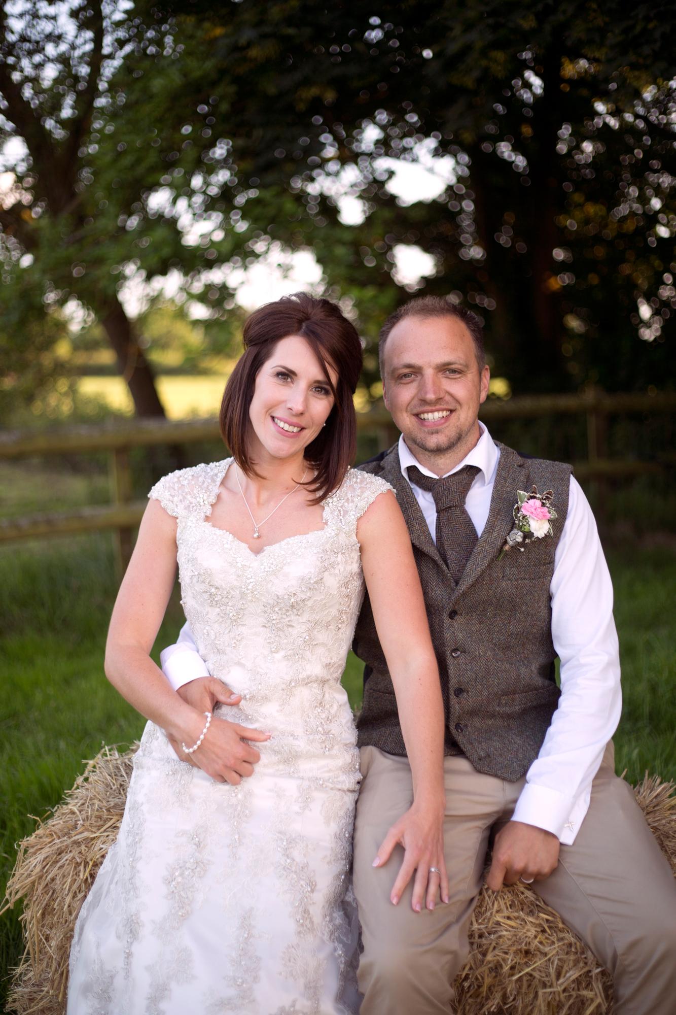 Outdoor DIY wedding, Somerset